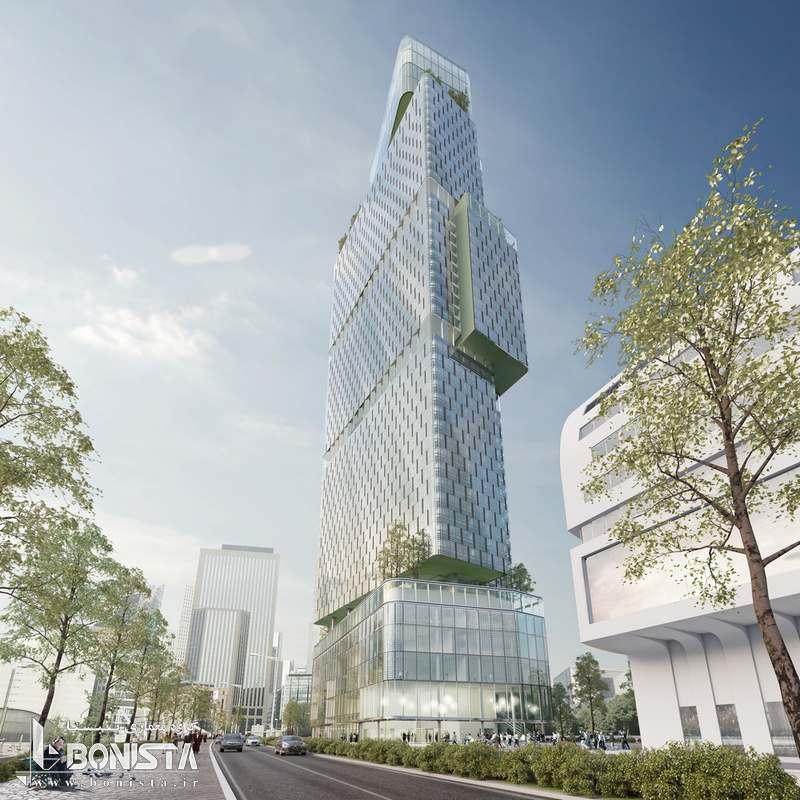 طرح پیشنهادی برج باغ در پاریس