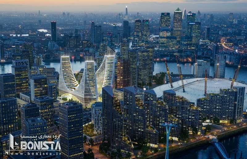 برجهای سهگانه 1 میلیارد پوندی در گرینویچ