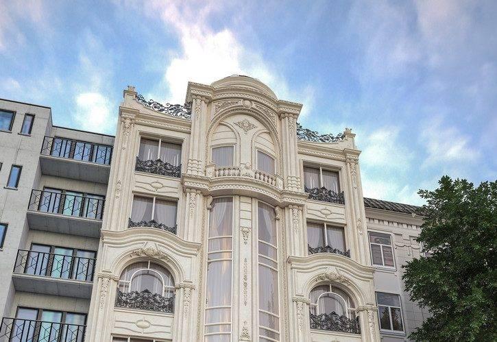 طراحی نما ساختمان مسکونی رسپینا